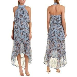 NWOT Foxiedox Lillian Halter Floral Maxi Dress L